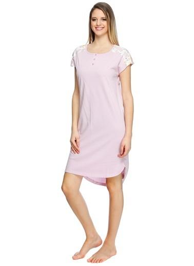 T-Box Pijama - Elbise Pembe
